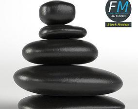 3D asset Japanese meditation stones
