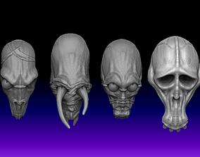 Dark crystal SkekMal Trophy Skulls x 4 3D