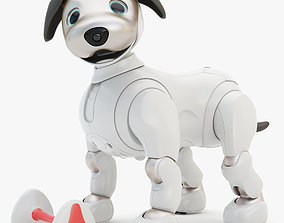 3D asset Rigging Sony Aibo with Bone