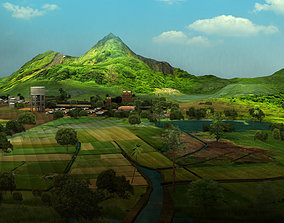 set village india 3d model