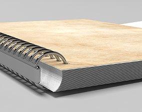 notebook note book mock up meeting school a5 notebook 3D