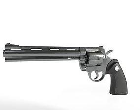 low-poly Magnum Pistol 3D Model
