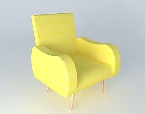 3D model Chair WAVES yellow Maisons du monde