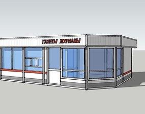 newspaper pavilion 2 3D