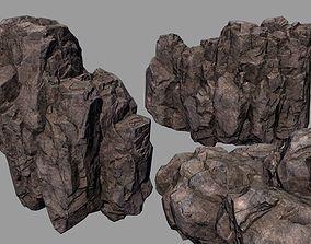 realtime rocks stones Low-poly 3D model