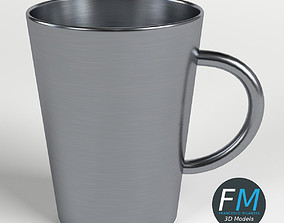 3D Stainless steel tumbler with handle