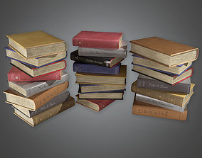 HVM - Books Stack - PBR Game Ready 3D asset