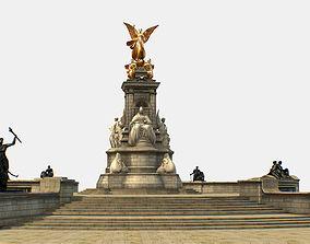 Queen Victoria Memorial Lowpoly 3D model low-poly