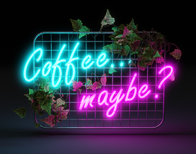 Neon sign coffee maybe 3D asset