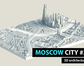 3D asset Moscow City Downtown