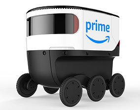 Amazon Delivery Robot White 3D model