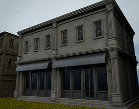 3D asset OLD RETRO CLASSICAL BUILDING 10