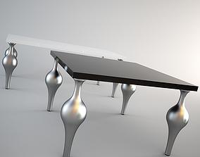 Moda Milan dining tables set 3D model
