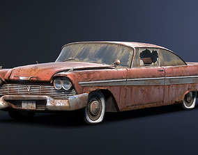 3D asset Plymouth Fury 1958 Rusty