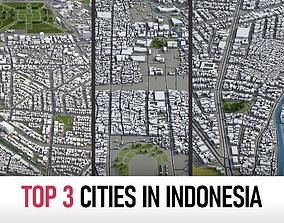 3D model Top 3 Cities in Indonesia surabaya