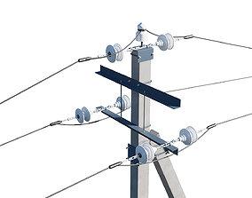 3D model Power Line Set Modular