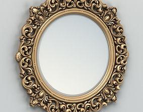 3D Round mirror frame 001 classic