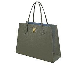3D asset Louis Vuitton Lockme Shopper Bag Khaki