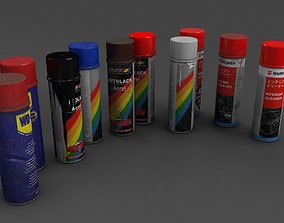 3D model spray cans