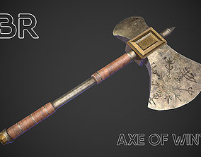 3D model game-ready Axe of winter