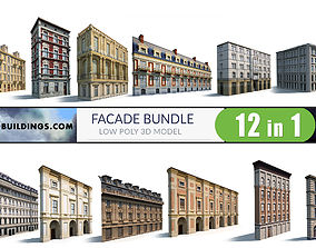 3D model Neoclassical Building Pack Low poly