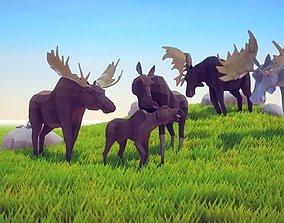 Poly Art Moose 3D model