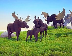 3D model Poly Art Moose