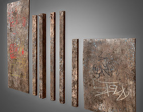 3D asset Old Plywood Set - PBR Game Ready