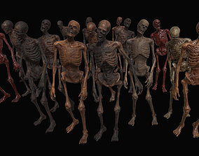 Skeleton Zombies 3D asset