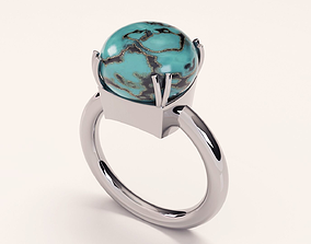 3D printable model turquoise stone