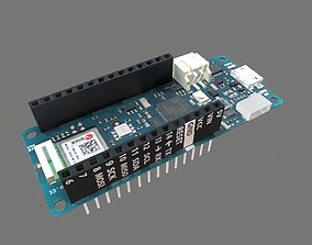 Arduino Mkr Wifi 1010 Circuit Board 3D model industry