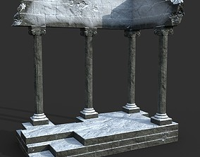 Low poly Ancient Roman Ruin Construction 01 - 3D model 1