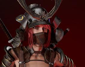 Samurai Girl 3D model
