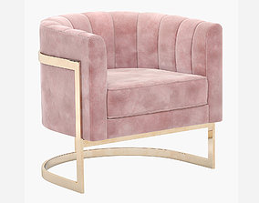 3D model Mica Gold Accent Chair