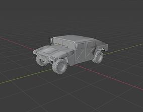 Humvee vehicle 3D model game-ready