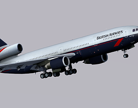 McDonnell Douglas DC-10 British Airways 3D model