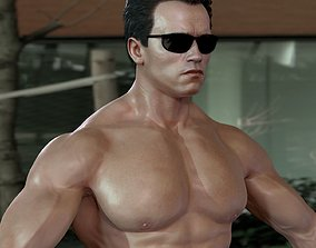 animated 3d model Arnold Schwarzenegger celebrities