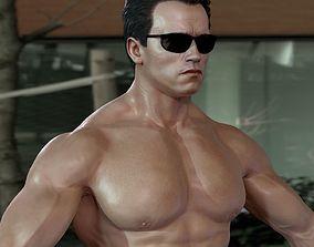 animated 3d model Arnold Schwarzenegger celebrities