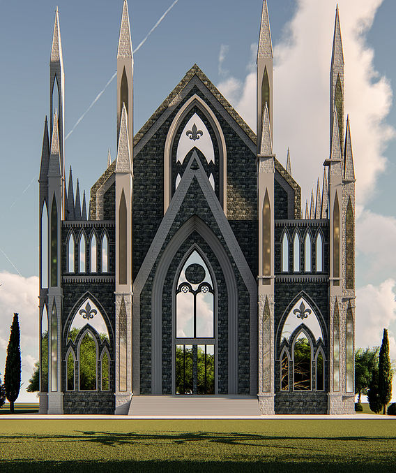 CHURCH DESIGN AND RENDER IN LUMION 8.5 PRO