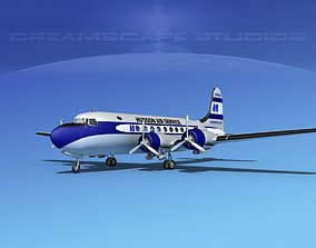 Douglas DC-4 Hudson Air Freight 3D model