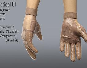 FPS hand glove tactical 01 3D asset