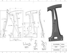 3D print model Car central pillar