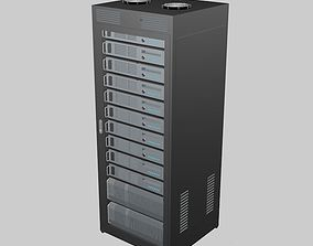 3D model renderserver Data Server Rack