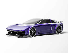 Concept car Subject 3D model T sport game-ready