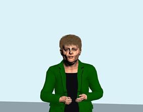 3D Angela Merkel