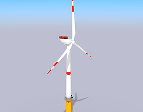3D asset VR / AR ready Wind Turbine