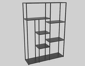3D asset Office Bookcase 1400