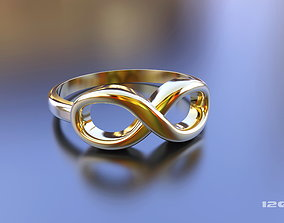 Infinity Ring Gold Silver Steering Steel 3D print model