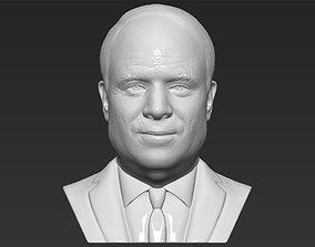 John McCain bust 3D printing ready stl obj