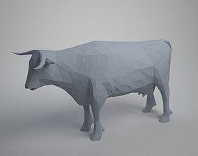 vache 3D print model low poly cow